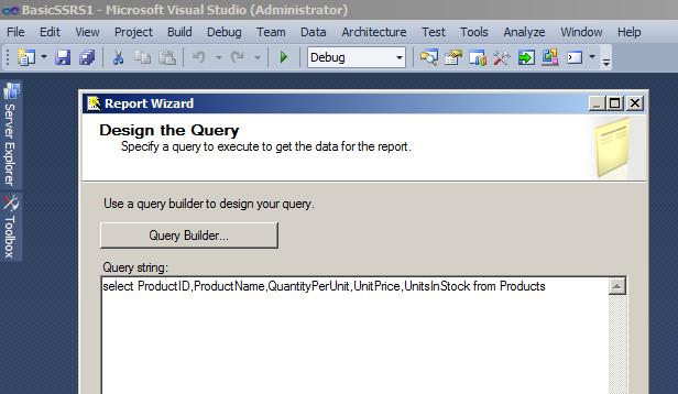 Design the Query