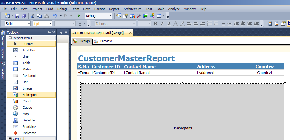 Customer Master Report