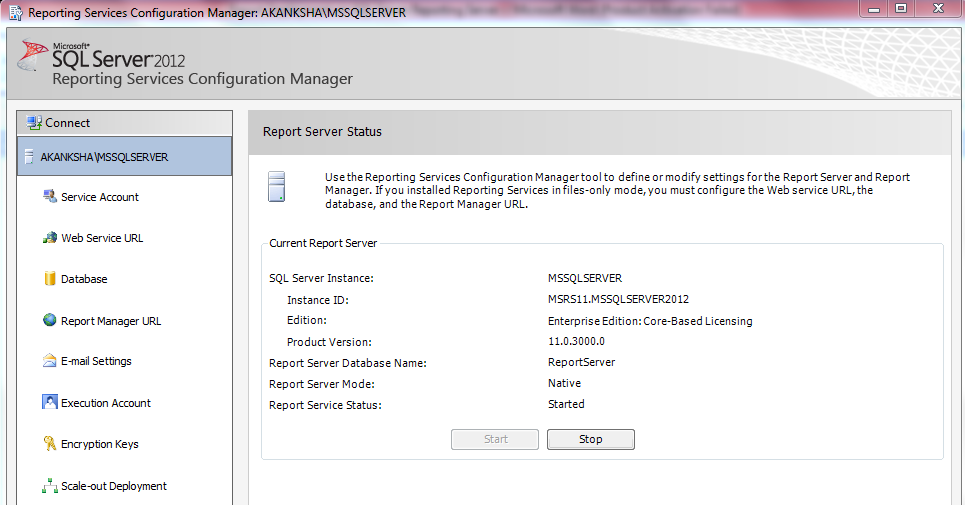 Report Server Status