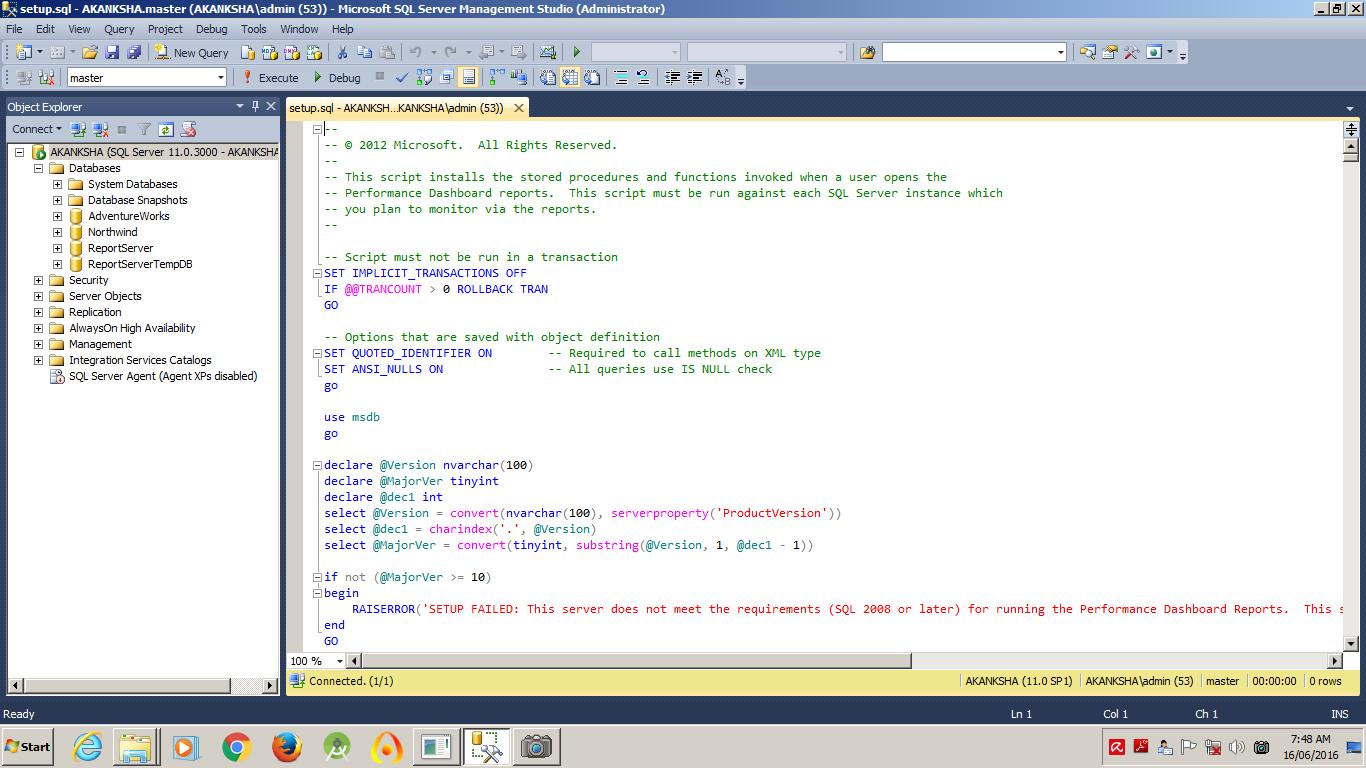 run sql script