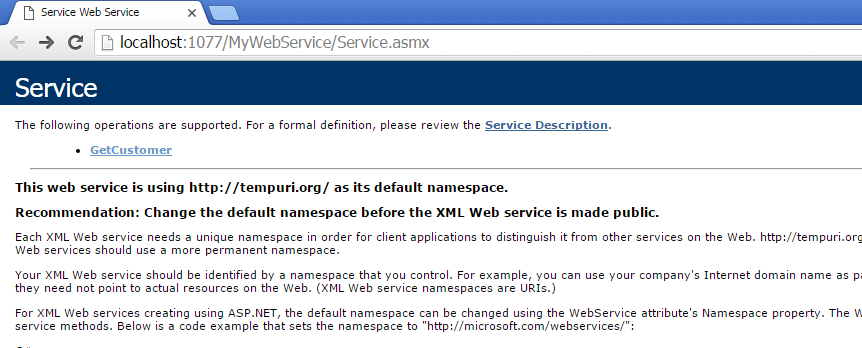 Run the WebService