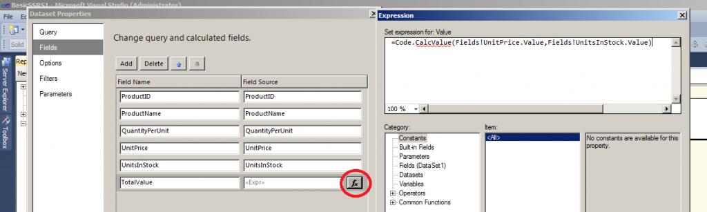 Sample Calculation formula