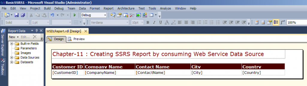 Change the Header as given and adjust the column width