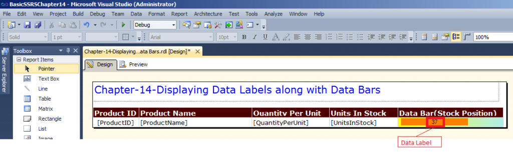 Data Label in ssrs
