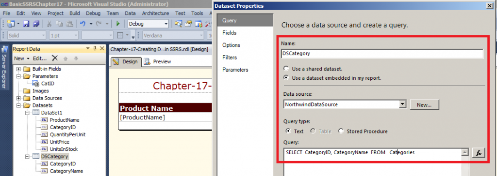 . Now Click on the '+' sign on DataSets Option shown
