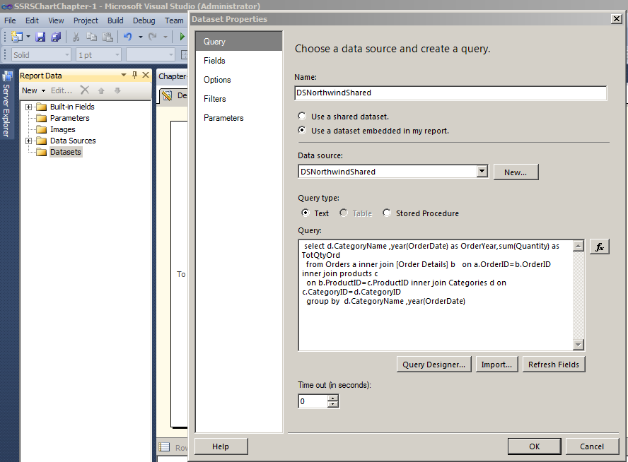 Choose data source and create query