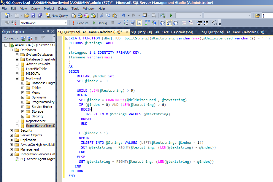 Multi Value Parameter Report in SSRS