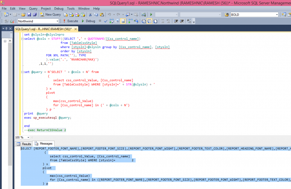 copy the sql scripts coming in the message tab as shown in the image